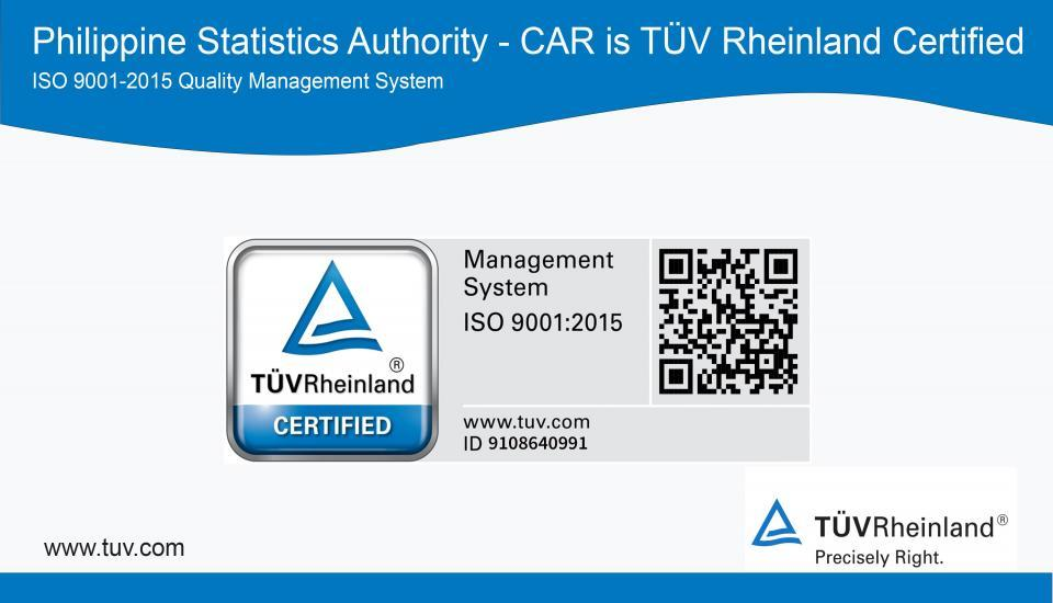 PSA-RSSO-CAR is ISO Certified
