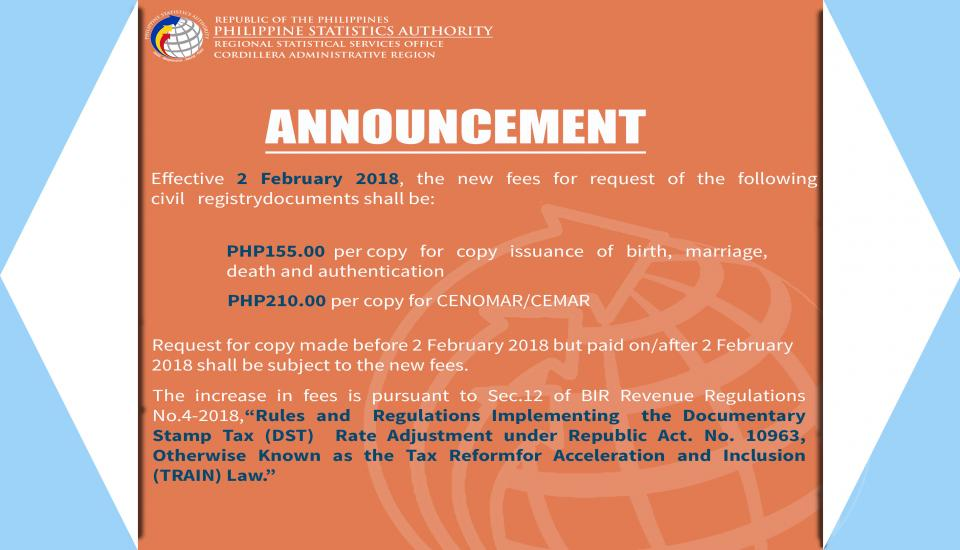 Announcement Civil Registration