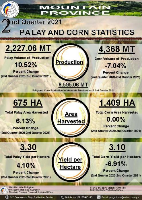 1st Quarter 2021 Palay and Corn Statistics Mountain Province
